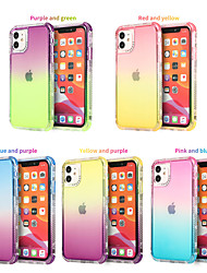 cheap -Phone Case For Apple Back Cover iPhone 12 Pro Max 11 Pro Max Translucent Color Gradient TPU