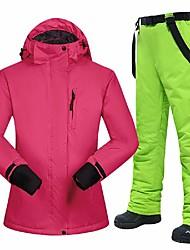 cheap -MUTUSNOW Women's Ski Jacket with Pants Skiing Hiking Snowboarding Waterproof Windproof Warm POLY Polyester Clothing Suit Ski Wear / Winter