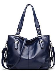 cheap -Women's Bags PU Leather Top Handle Bag Zipper Daily Handbags Baguette Bag Wine Black Blue Gray
