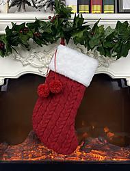 cheap -Christmas Knitted Socks Gift Bag Christmas Gift Bag Christmas Ornament Supplies Pendant 40*18cm