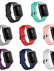 cheap -8pcs bands replacement for amazfit bip smartwatch,20mm quick release watch soft silicone bands for amazfit bip band women men (8-pack, buckle design)