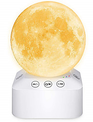 cheap -Moon Lamp 7 Colors LED 3D Moon Light with Stand & Remote&Touch Control&White Noise Machine and USB Rechargeable Moon Light Lamps for Kids Lover Birthday Gifts.