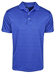 cheap -golf- broken windowpane polo dazzling blue medium
