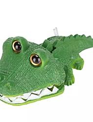 cheap -Aquarium Artificial Animal Ornament Artificial Bubble Crocodile Fish Tank Resin Landscaping Decor Waterscape Fish Tank Decor