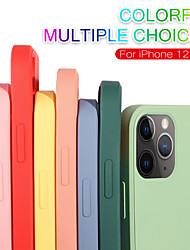 cheap -Phone Case For Apple Back Cover Silicone iPhone 12 Pro Max 11 SE 2020 X XR XS Max Frosted Solid Color Silicone