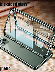 cheap -Phone Case For Apple Full Body Case iPhone 12 iPhone 12 Pro Max iPhone 12 Pro iPhone 12 Mini Shockproof Transparent Double Sided Transparent Metal