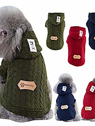 cheap -dog hoodie sweatshirt for cold weather windproof dog coat reusable winter dog sweater autumn pet cotton apparel for small medium large dog outdoor indoor activities