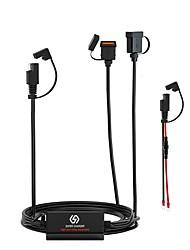 cheap -Dual USB Motorbike Motorcycle Handlebar Charger Adapter Waterproof Power Supply Socket 12V-24V