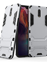 cheap -Case For OPPO Realme X50 Pro X50/Realme 5 6Pro/Realme 5 6 Q/R17  Pro R15 R11S Plus R11S R11 Shockproof / with Stand Back Cover Lines / Waves / Armor Acrylic