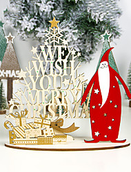 cheap -Windy Wood Painted Christmas Ornaments Creative Christmas Diy Homemade Set