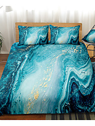 cheap -3D Digital Print 2/3 Pieces Marble Duvet Cover Queen Marble Printed Bedding Sets Gold Glitter Blue Marble Abstract Art Comforter Cover with Zipper Ties, Soft Microfiber Modern Marble Decor Quilt