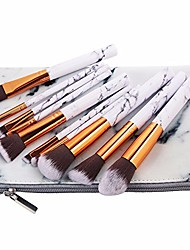 cheap -10pcs/set marbling makeup brushes kit marble pattern pu brush bag powder contour eye shadow beauty make up brush cosmetic tools,brush and bag