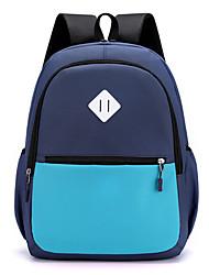 cheap -Waterproof / Shock Absorption School Bag Unisex Oxford Cloth Zipper Color Block Daily / School Red / Yellow / Almond / Blushing Pink / Orange