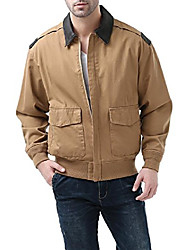 cheap -mens's air force a-2 windbreaker bomber jacket with leather trim tan medium