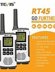 cheap -Retevis RT45 PMR Radio Walkie Talkie 2 pcs PMR PMR446 FRS Handy Two-Way Radio Communicator Family Walkie-Talkie Walkie-talkie