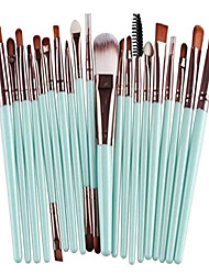 cheap -20 piece makeup brushes set eyeshadow eyebrow make up tools foundation natural beauty palette vanity dainty popular eyes faced colorful rainbow hair highlights glitter kids travel kit, type-29