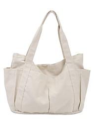 cheap -Women's Bags Polyester Linen Tote Shopper Bag City Shopping Outdoor 2021 Canvas Bag Handbags Black Milky White