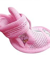 cheap -lovley pets tendon soles pet tendon end mesh sandals small dog cat pet shoes in 1 set