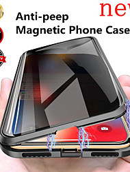 cheap -Case For Apple iPhone 12 / iPhone 12 Mini / iPhone 12 Pro Max Flip / Magnetic Full Body Cases Solid Colored Tempered Glass / Metal