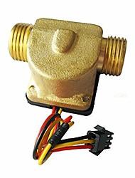 cheap -Water Flow Sensor - Flow Sensor Meter Counter Interface Hall Flowmeter for Drinking Fountains G1/2 DN15 0.3-10L/min 1.5MPa DC3-24V
