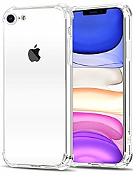 cheap -iphone case fit se 2020 case/iphone 8 case/iphone 7 case,transparent back phone case with tpu bumper protective case cover for apple iphone se(2nd generation)/iphone 7/iphone 8 (clear)