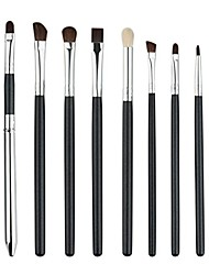 cheap -hot sale!8pcs pro eye brush set, blending shadow eyeliner smoked bloom cosmetic tools (silver)