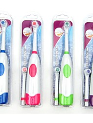 cheap -1 Set Electric Toothbrush With 2 Brush Heads Battery Operated Oral Hygiene No Rechargeable Teeth Brush For Children