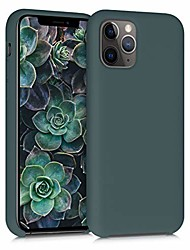cheap -tpu silicone case compatible with apple iphone 11 pro - soft flexible rubber protective cover - blue green