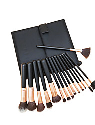 cheap -15 Pcs Black Set Makeup Brushes New Makeup Brushes Supply Various Makeup Tools