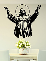cheap -Christian Character Jesus Famous / Wall Stickers Plane Wall Stickers / People Wall Stickers Decorative Wall Stickers PVC Home Decoration Wall Decal Wall Decoration 1pc