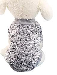 cheap -dog apparel, pet dogs puppy fleece sweater clothes autumn winter warm sweater (dark blue)