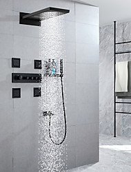 cheap -Shower Faucet / Rainfall Shower Head System / 4 Body Jet Massage Sets - Handshower Included Fixed Mount Rainfall Shower Contemporary Electroplated Mount Inside Ceramic Valve Bath Shower Mixer Taps