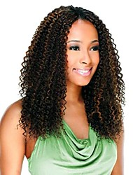 cheap -Curly Braids Pre-loop Crochet Braids Ombre Curly Box Braids Synthetic Hair Braiding Hair 1 pc 3 Pack 6 Pack Ombre Hair