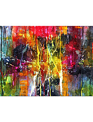 cheap -Oil Painting Hand Painted Horizontal Abstract Classic Modern Rolled Canvas (No Frame)