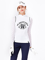 cheap -Women's Golf Vest / Gilet Sleeveless Breathable Quick Dry Soft Sports Outdoor Autumn / Fall Spring Summer Cotton White / Stretchy / High Neck