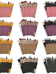 cheap -20pcs Makeup Brush Set with Wooden Handle Ultralight 85g Makeup Tool