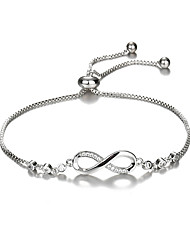 cheap -Women's Cubic Zirconia Bracelet Hollow Out Infinity Fashion Classic European Alloy Bracelet Jewelry Gold / Silver For Gift