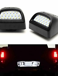 cheap -2Pcs 3W 12V 6500K Full LED License Plate Light Kit For 1999-2013 Chevy Silverado 1500 2001-2006 Chevy Silverado 1500HD  1999-2004 GMC Sierra 2500  2001-2014 GMC Sierra 2500 HD 2001-2014 GMC Sierra 350