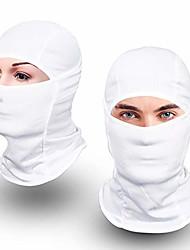 cheap -balaclava face mask uv protection for men women ski sun hood tactical masks (white, 2)