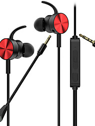 cheap -In-Ear Wired 3.5mm Game Headset Moving Coil Gaming Earphone with Mic Wired Gaming Earphone