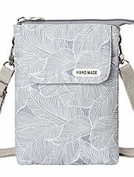 cheap -leaf pattern canvas cell phone purse wallet lightweight small crossbody purse bags for women girls