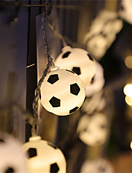 cheap -LED Soccer Balls String Garland Decoration Bedrooms Home Theme Party Christmas Decorative Football Fairy Lights Battery