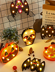 cheap -Halloween Decoration Night Light Battery Operated Ghost Festival Light Living Room Bedroom Garden Holiday Decoration Light
