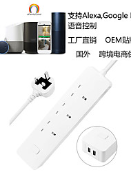 cheap -WIFI Smart Power Strip British Tuya Smart Control Socket for Mobile Phone British Standard Power Strip