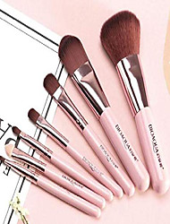 cheap -premium makeup brush set lip foundation makeup brush, 7pcs on set for cosmetic (pink)
