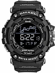 cheap -mens digital sports watch,  black large face army military watches outdoor 50m waterproof electronic wrist watch for teen students (black)