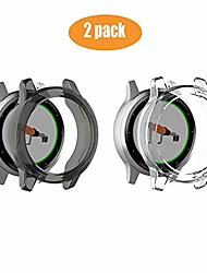 cheap -compatible for garmin vivoactive 4s case,  silicone tpu case cover compatible for garmin vivoactive 4s (40mm) smartwatch (2 case-black+clear)