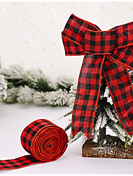 cheap -Christmas Decorations 2 Meters Lattice Ribbon Lattice Tie Tree Decoration