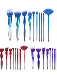 cheap -Cross-border new 10 makeup brush set electroplated gradient handle blush brush eye shadow brush full set of beauty tools