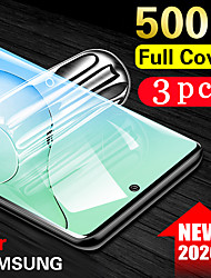 cheap -3PCS 100D Curved Hydrogel Film Glass For Samsung Galaxy S20 Ultra S20 Plus  S20 Screen Protector For Samsung Note 10 Pro Note 10 9 8 Samsung Galaxy S10 Lite S10 9 8 Plus